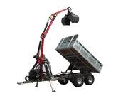 Многофункциональный ATV прицеп-самосвал с краном