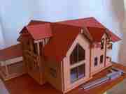 Разработка эскизных проектов домов,  коттеджей. Макетирование.